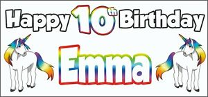 Unicorn-10th-Birthday-Banner-x-2-Party-Decorations-Personalised-ANY-NAME