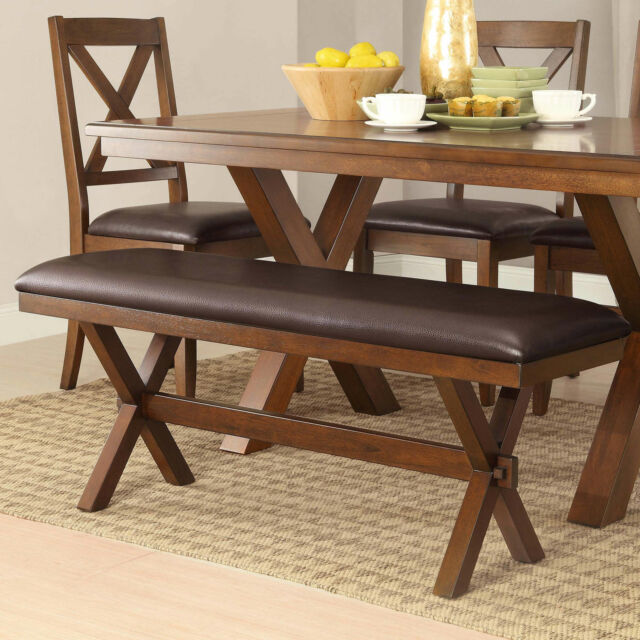 Better Homes Gardens Maddox Crossing Dining Bench Espresso Padded Seat