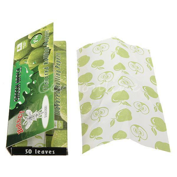 50 Leaves DIY Hornet Apple Flavored Cigarette Rolling Papers with Glue