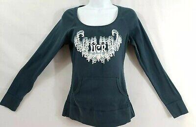Womens Fitted Long Sleeve Shirt Blue XL