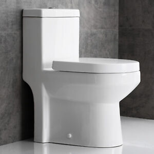 Horow One Piece Toilet Compact Bathroom Mini Commode Water ...