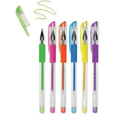 Living In Color Color-Flow Glitter Gel Pen Set 6//Pkg Brights 775749210965