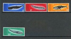 Brit-Antarktis-Gebiete-MiNr-64-67-postfrisch-MNH-Wale-W004