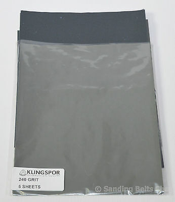 WET AND DRY PAPER GRITS  120 - 2000  SANDPAPER MIXED Klingspor
