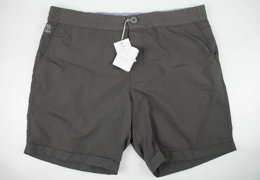 8b5511db86 NWT BRUNELLO CUCINELLI Brown Swim Trunk Bathing Suit Board Shorts Size XXL