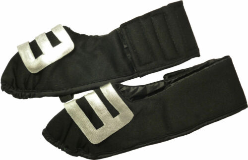 Adult Fancy Dress Shoe Covers With Silver Buckle 29cm Front to Back HW203