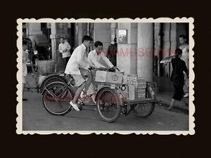 1940s-SHOP-BUILDING-STREET-TRISHAW-RICKSHAW-CAR-Vintage-Hong-Kong-Photo-1735