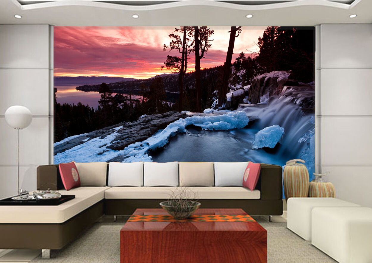 3D Snow ice 900 Wall Paper Print Wall Decal Decal Decal Deco Indoor Wall Murals 783d88