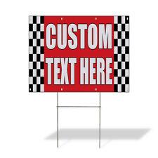 Weatherproof Yard Sign Custom Text Here Auto Body Shop Car Repair A Lawn Garden