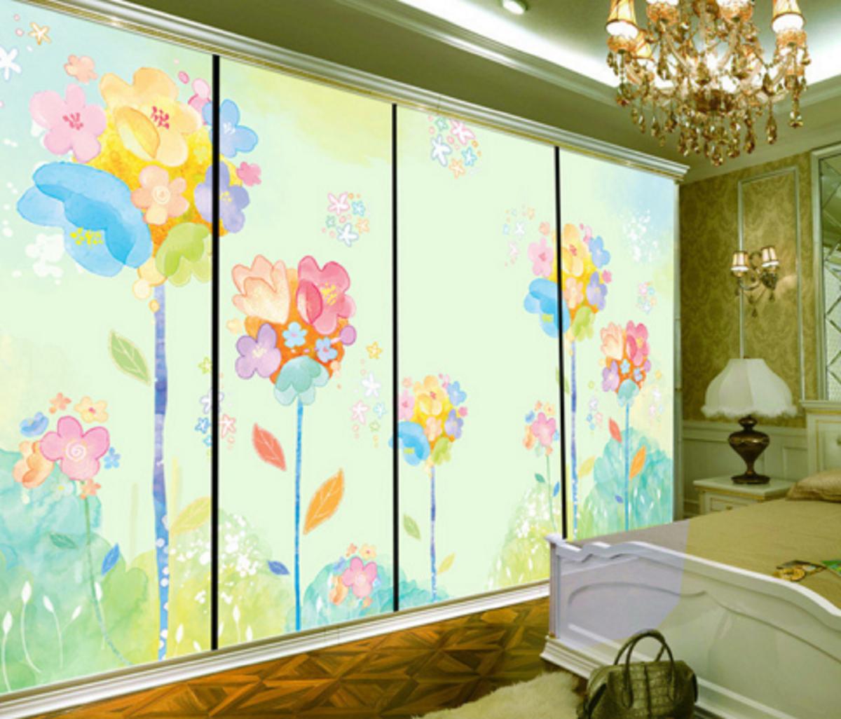 3D Pale Farbe Flower 7 Wall Paper Murals Wall Print Wall Wallpaper Mural AU Kyra