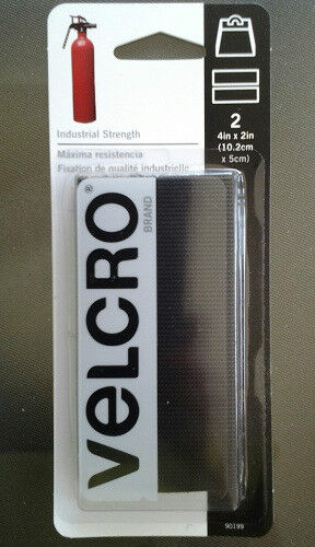 2 Sets Sticky Back Industrial Strength VELCRO 4in x 2in Black Heavy Duty