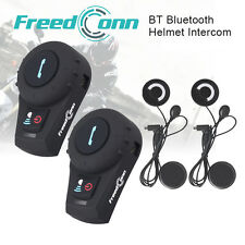 500M BT Motorcycle Casco Bluetooth Interphone Headset Intercom Speaker Riders+FM
