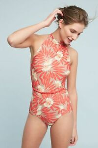 NEW-Anthropologie-Seea-Karina-One-Piece-Swimsuit-Bathing-Suit-XS-Extra-Small-Red