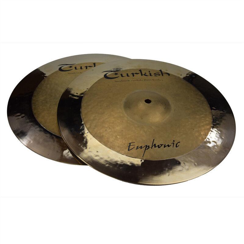 TURKISH CYMBALS Becken 14  HiHat Rock Euphonic bekken cymbale cymbal 1077 1268g
