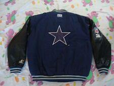VTG NFL Dallas Cowboys Logo Athletic Pro Line Leather Sleeves Varsity Jacket L