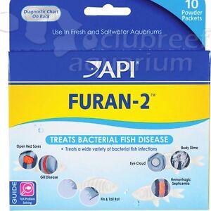 Furan-2 Powder Fresh/Saltwater 10 Pack Anti-Bacterial Fish ...