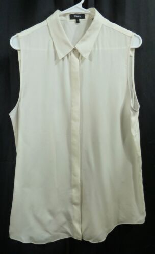 Top Taille Large Tanelis Georgette Theory Blanc Nvm8wn0O