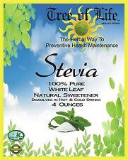 Stevia Powder 4 Ounces Organic White 100% Pure Sweetener