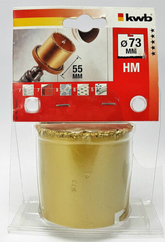 kwb Multi Cut Lochsäge Sägekranz Hartmetallbestreut Ø 33-73 mm Lochbohrer