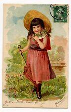PETITE FILLE. LITTLE GIRL.ENFANT.CHILDREN.FLEURS.FLOWERS.PARAPLUIE.UMBRELLA.