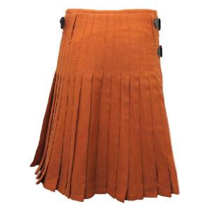 Complexé 8 Yd (environ 7.32 M) Scottish Highland Hommes Traditionnel Tartan Kilt Sewn Plis Top Qualité-afficher Le Titre D'origine