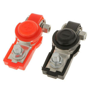 2 x Adjustable Car Battery Terminal Connector Ends Clamp Positive & Negative NEW