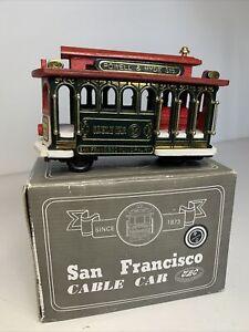 San Francisco Powell & Hyde Hand Made Wooden Cable Car Souvenir With Box VGC