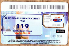 TIM MOBILE ITALY MINI / STANDARD SIZE UN-ACTIVATED SIM CARD, SWAP OR REPLACEMENT