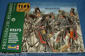 REVELL-02575-PRUSSIAN-HUSSARS-CAVALRY-SEVEN-YEARS-WAR-1-72-SCALE-15-FIGURES