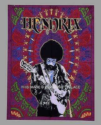 Jimi Hendrix Tapestry Wall Hanging Guitar Art throw Indian Home Decor Ethnic New