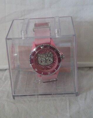ORIGINALE Montre HELLO KITTY Victoria couture rose et strassé rose neuve | eBay