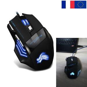 Souris-Gaming-Filaire-5500-DPI-7-Boutons-USB-Optique-Gamer-Fil-Jeu-PC-Mac