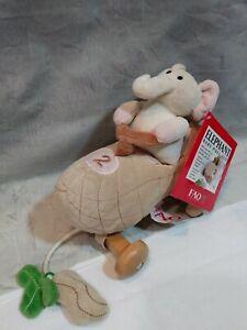 FAO-Schwartz-New-York-Toy-Store-Elephant-Baby-Pull-Toy-Plush-Stuffed-Animal