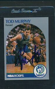 1990/91 Hoops #189 Tod Murphy Timberwolves Signed Auto *A1135