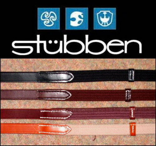 Stubben German Leather Traditional Cotton Web Continental Reins Hand Stop CHEAP