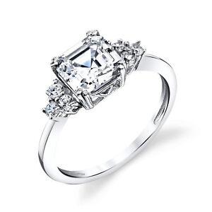 Sterling-Silver-Bridal-Asscher-Cut-CZ-Engagement-Wedding-Ring-Cubic-Zirconia