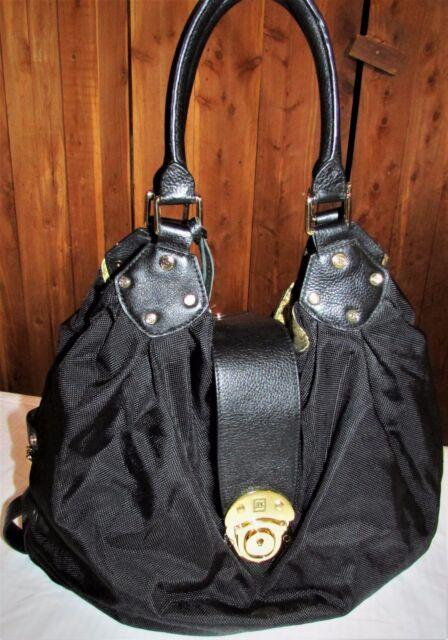Jpk Paris 75 Nordstrom Black Nylon Bag With Leather Trim Gold Hardware Euc Mint