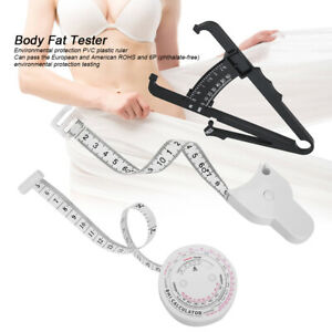 Body Fat Tester Calipers Weight Loss Fitness Health Charts Manual Slimming