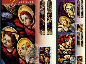 1995-Christmas-Maxi-Cards-Prepaid-Postcard-Maxicards-Stamps
