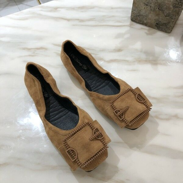 Ballerine mocassini chaussures  eleganti beige simil pelle scamosciate comode 1651