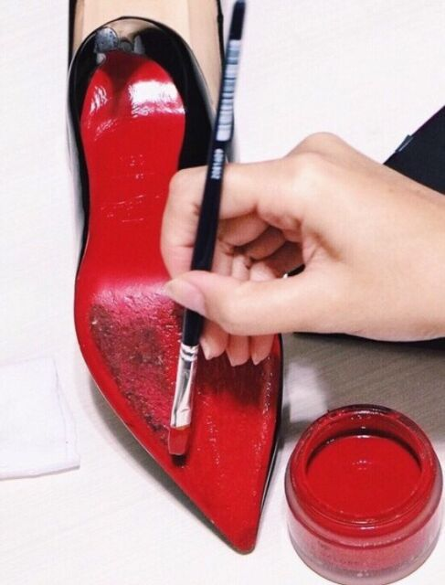 dd3c5da561e Paint To Fix DIY Christian Louboutin Heels For Red Bottoms Designer Shoes 👠