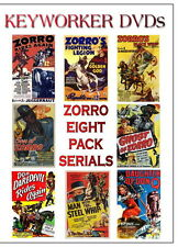 ZORRO CLIFFHANGER SERIALS - COMPLETE SET - SPECIAL EIGHT PACK
