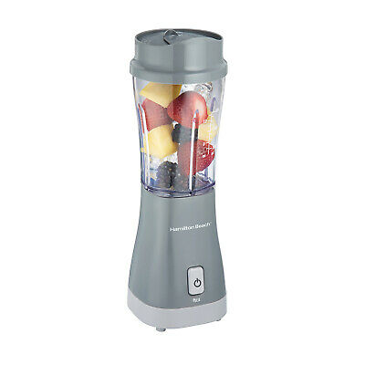 White 51101V Hamilton Beach Personal Blender for Shakes and Smoothies with 14oz Travel Cup and Lid