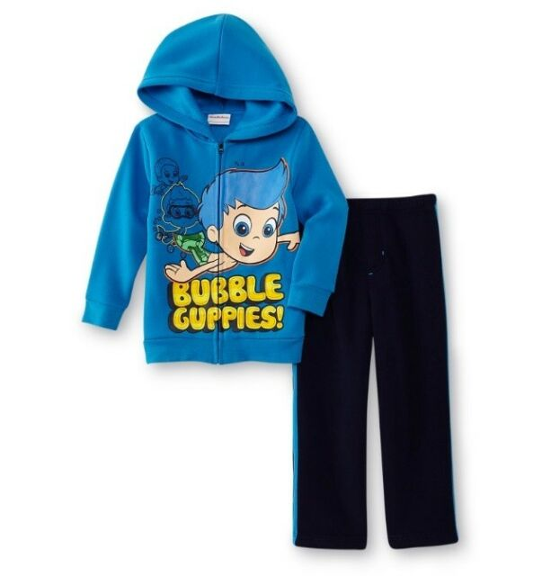 NWT Paw Patrol 2T Toddler Boys 2 Pc Tracksuit Hooded Zip up Jacket /& Pants Blue