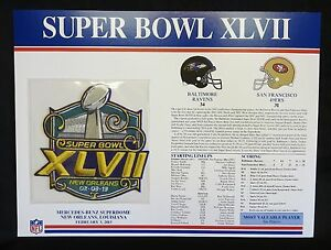078bffc99 SUPER BOWL 47 ~ RAVENS vs 49ERS Willabee & Ward OFFICIAL NFL SB ...