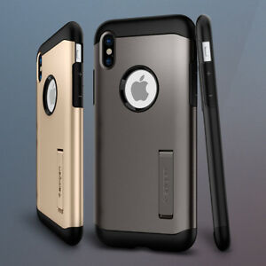 timeless design 6768f ae192 iPhone X PC TPU Spigen Bumper Case Cover for Apple Shockproof Anti ...