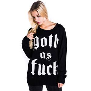 Killstar Pullover Goth Pulii Gothic Knit Jumper Strickpullover Sweater Okkult tvxvra