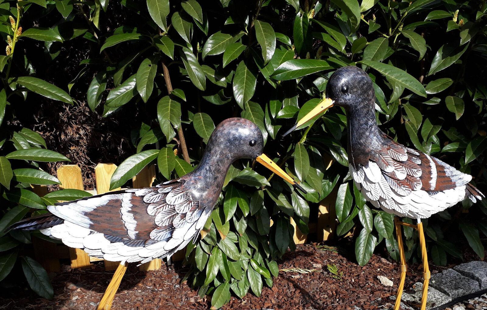 2er set uccelli metallo decorazione giardino figura personaggio