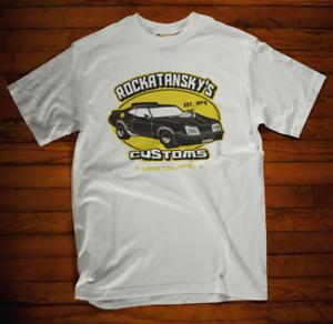 Mad Max T-Shirt Rockatansky/'s Customs V8 Car Garage Movie Film retro classic