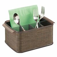 Mdesign Silverware, Flatware Caddy Organizer For Kitchen Countertop Storage, ...